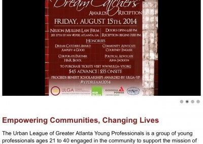 Urban League of Greater Atlanta Young Professionals Website